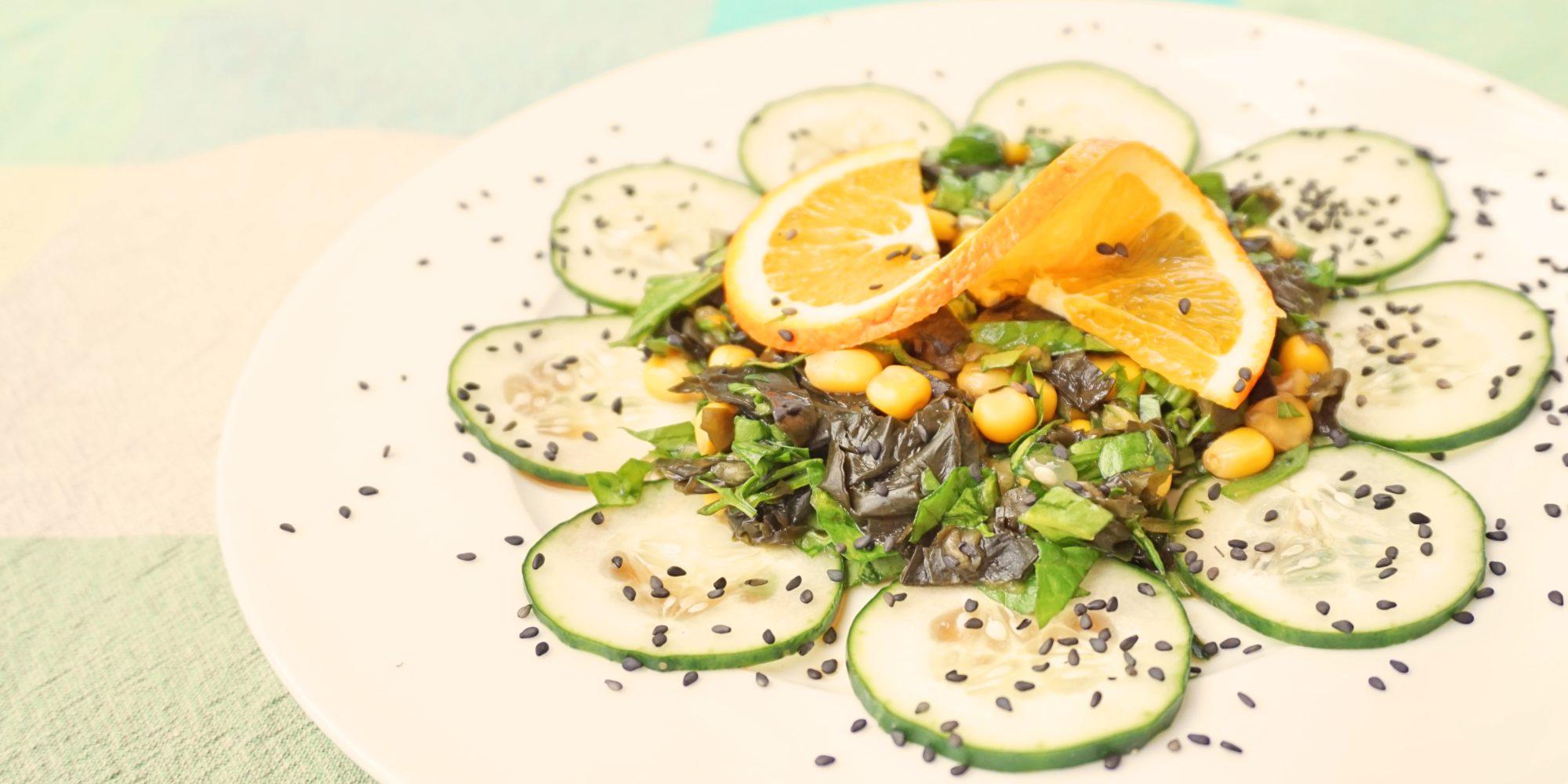 comer. ensalada wakame