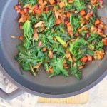 Salteado de kale con verduras
