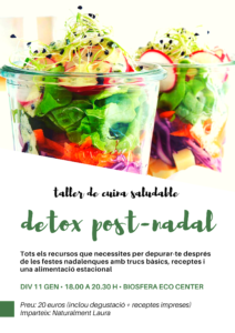 Taller de cuina detox post-Nadal @ Biosfera Eco Center