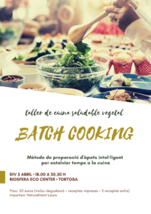 Taller de batch cooking @ Biosfera Eco Center
