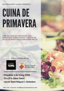 Curs de cuina de primavera @ Ebre Terra, Centre d'Inspiració Turística
